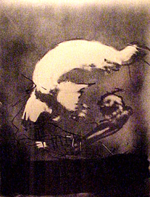 Antonio Tapies_Profile_1982_Aquatint on D'arches Paper_25x20