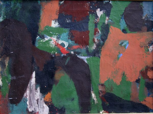 "James Brooks, A, 1954, Oil on Canvas, 17"" x 23"""