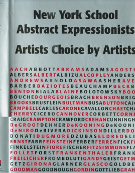New York School Abstract Expressionists: Artists Choice by Artists, 2000, $55