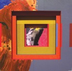 William Manning, Manana West 19, 2005, Collage and Acrylic on Wood, 9