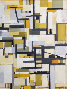 "Michael Loew, Delineations in Space, 1955, Oil on Canvas, 38 1/2""x29 1/2"""
