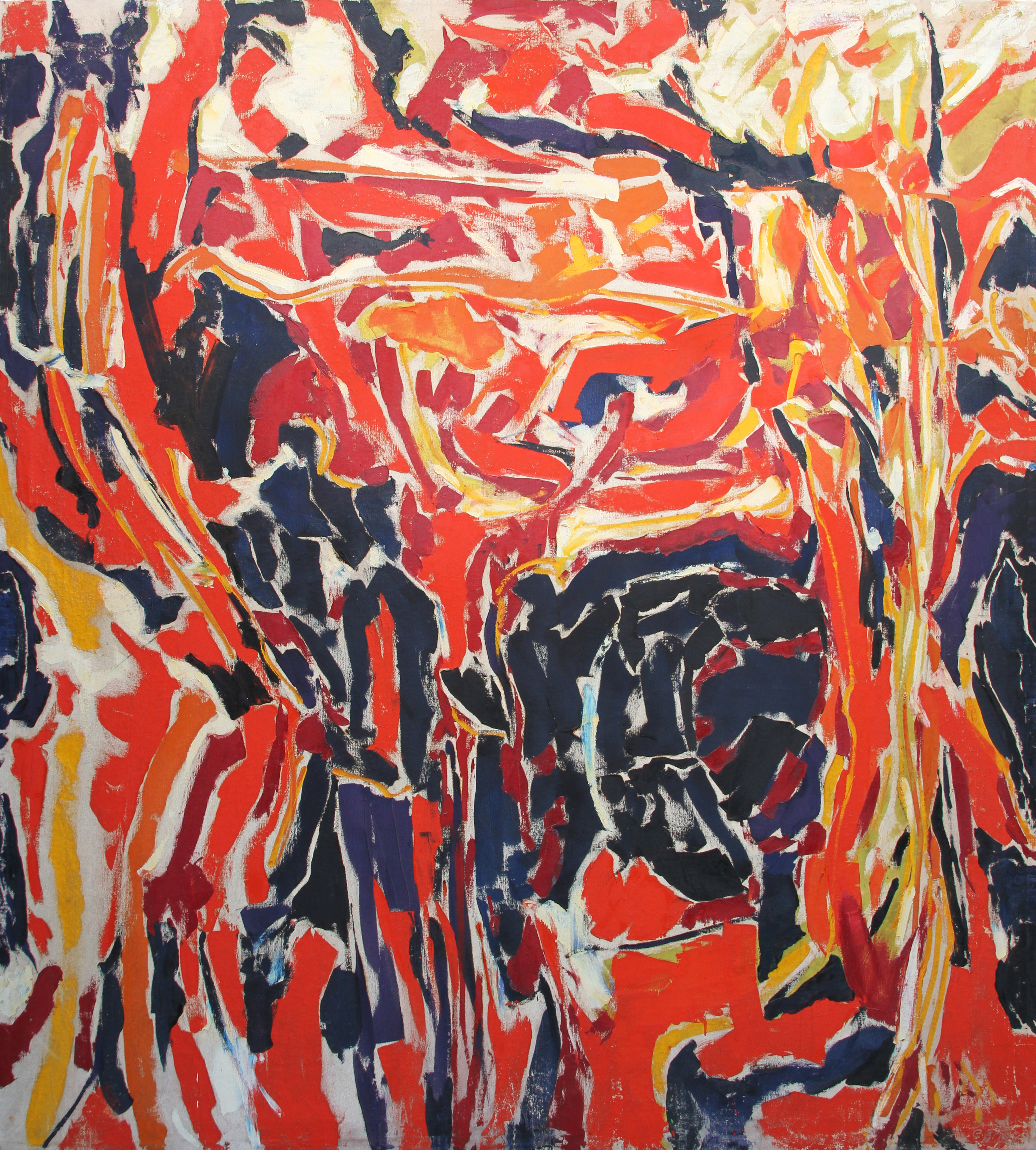 Ernest Briggs, 1959-June, Untitled, oil on canvas, 82 x 74